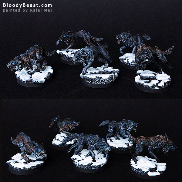 Space Wolves Fenrisian Black Wolf Pack painted by Rafal Maj (BloodyBeast.com)