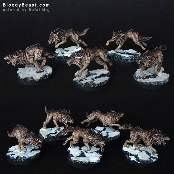Space Wolves Fenrisian Wolf Pack painted by Rafal Maj (BloodyBeast.com)