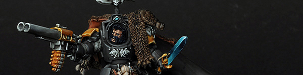 Space Wolves Lone Wolf with Wolf Companion