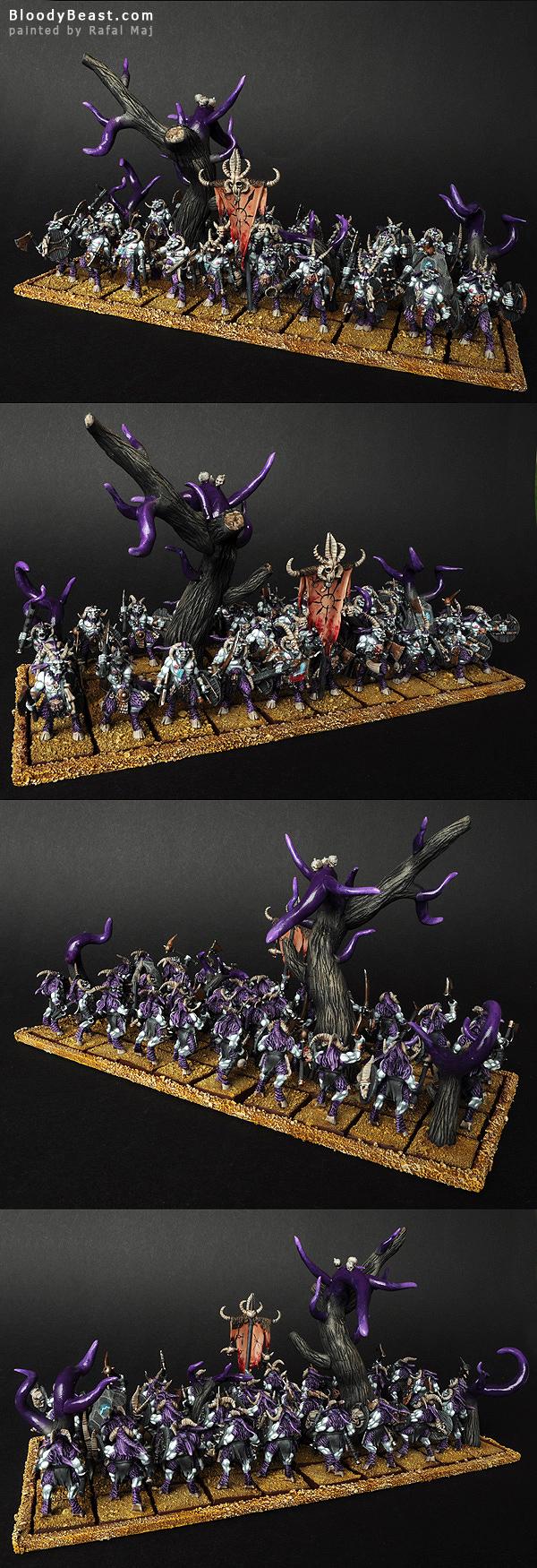 Beastmen Gors Herd of Slaanesh Horde painted by Rafal Maj (BloodyBeast.com)