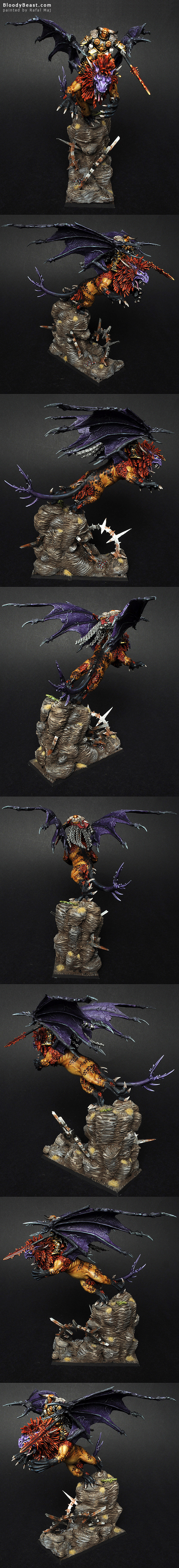 Chaos Lord on Manticore painted by Rafal Maj (BloodyBeast.com)