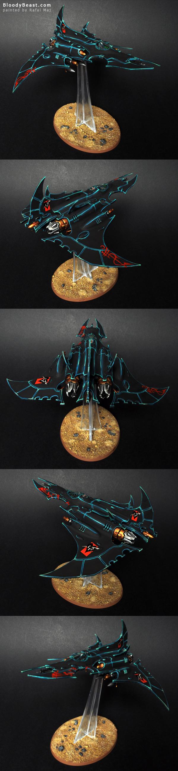 Dark Eldar Razorwing Jetfighter painted by Rafal Maj (BloodyBeast.com)