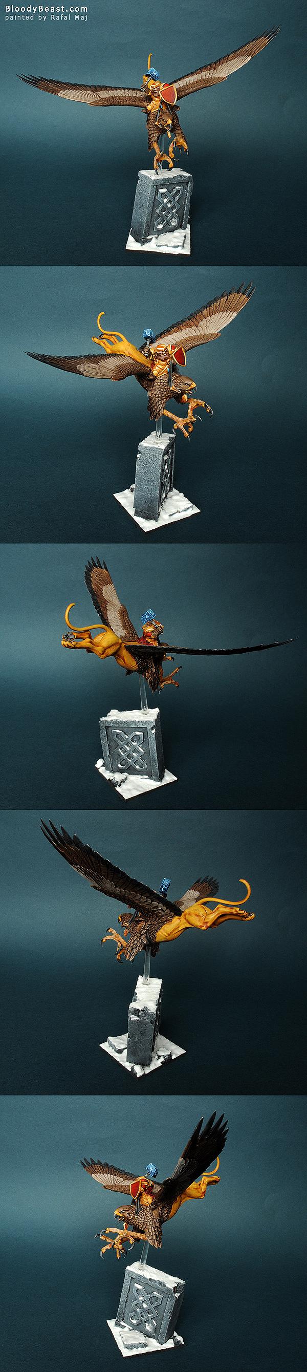 Mantic Dwarf Griffon Rider painted by Rafal Maj (BloodyBeast.com)