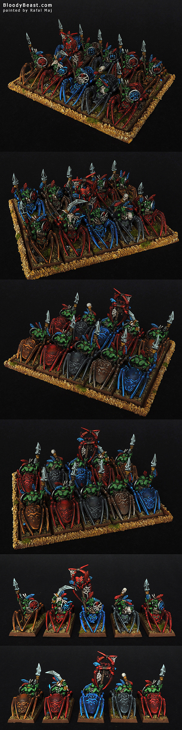Forest Goblins Spider Riders painted by Rafal Maj (BloodyBeast.com)