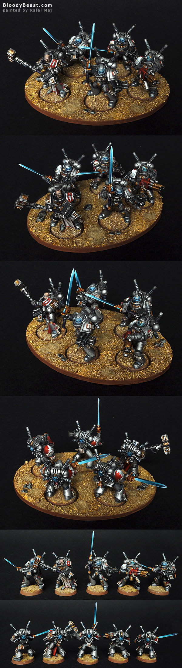 Grey Knight Squad painted by Rafal Maj (BloodyBeast.com)