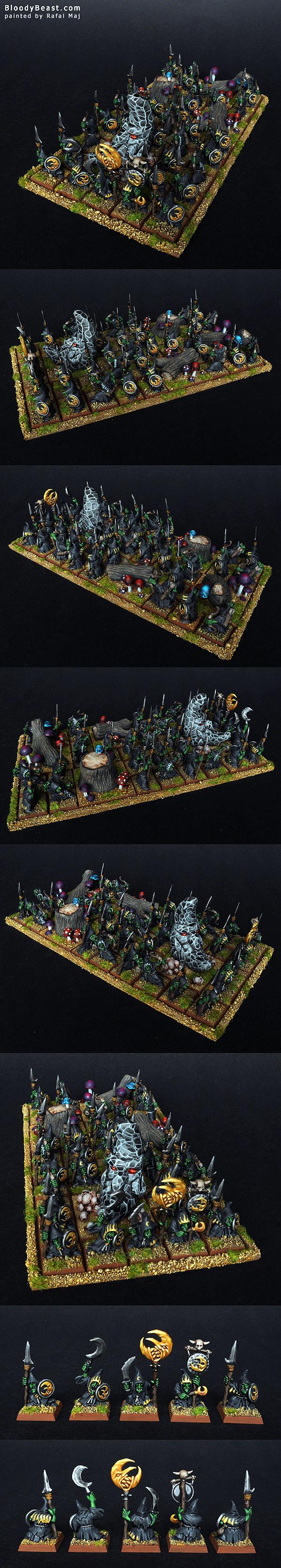 Night Goblins Horde painted by Rafal Maj (BloodyBeast.com)