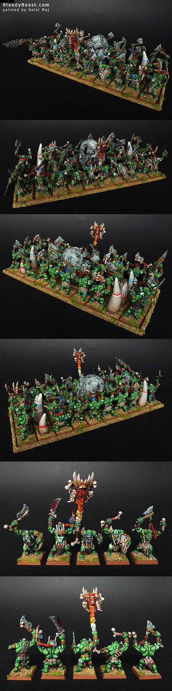 Savage Orc Boyz Horde painted by Rafal Maj (BloodyBeast.com)