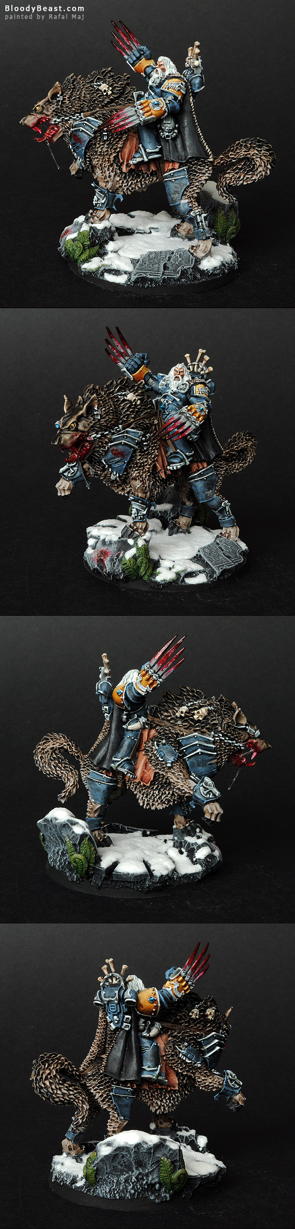 Space Wolves Canis Wolfborn painted by Rafal Maj (BloodyBeast.com)