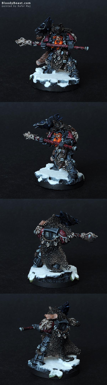 Space Wolves Njal Stormcaller painted by Rafal Maj (BloodyBeast.com)