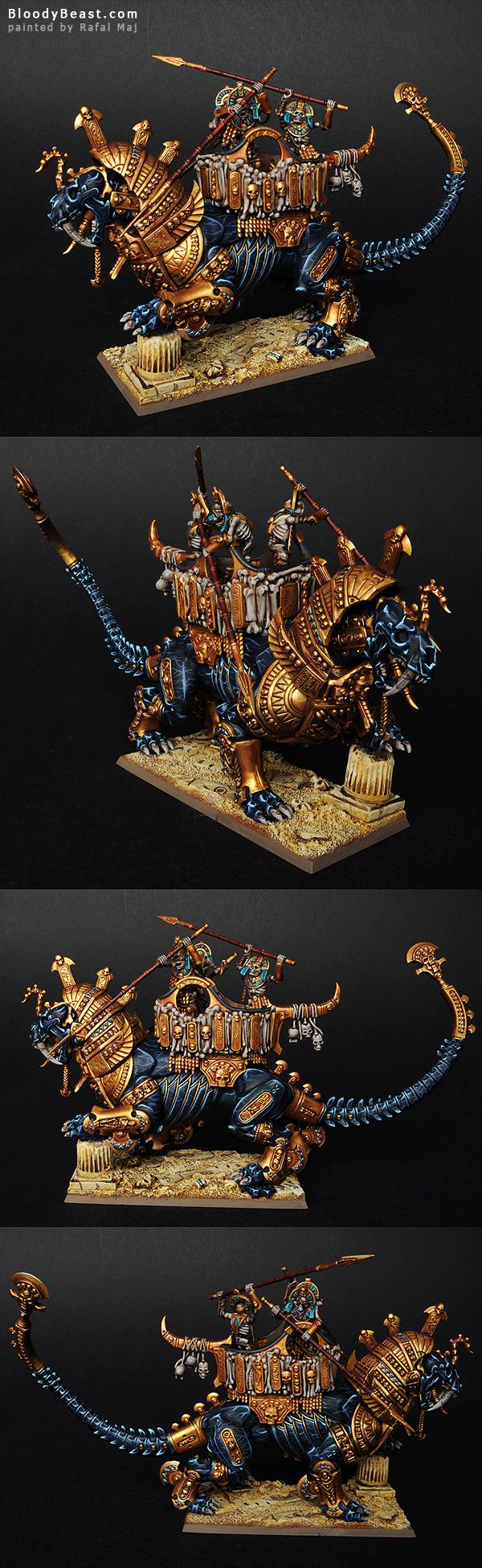 Tomb Kings Warsphinx painted by Rafal Maj (BloodyBeast.com)