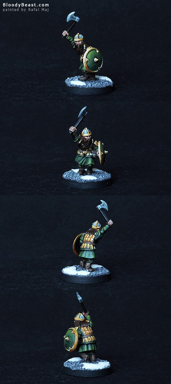 LotR Dwarf Warrior painted by Rafal Maj (BloodyBeast.com)