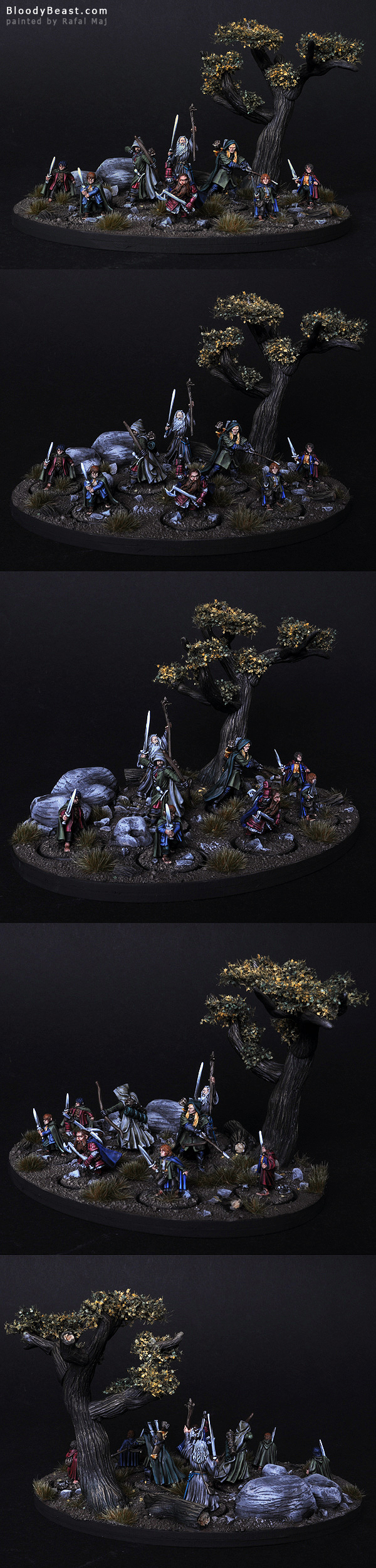 The Fellowship of the Ring painted by Rafal Maj (BloodyBeast.com)