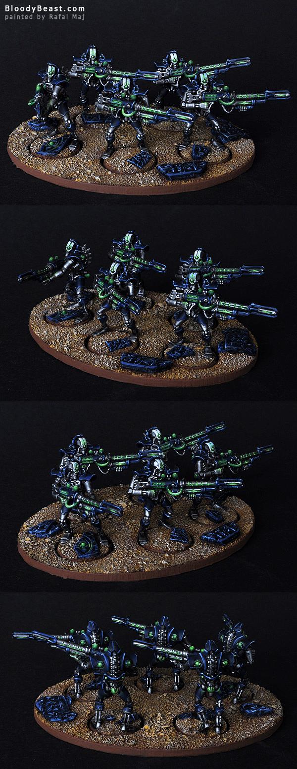 Necron Deathmarks painted by Rafal Maj (BloodyBeast.com)