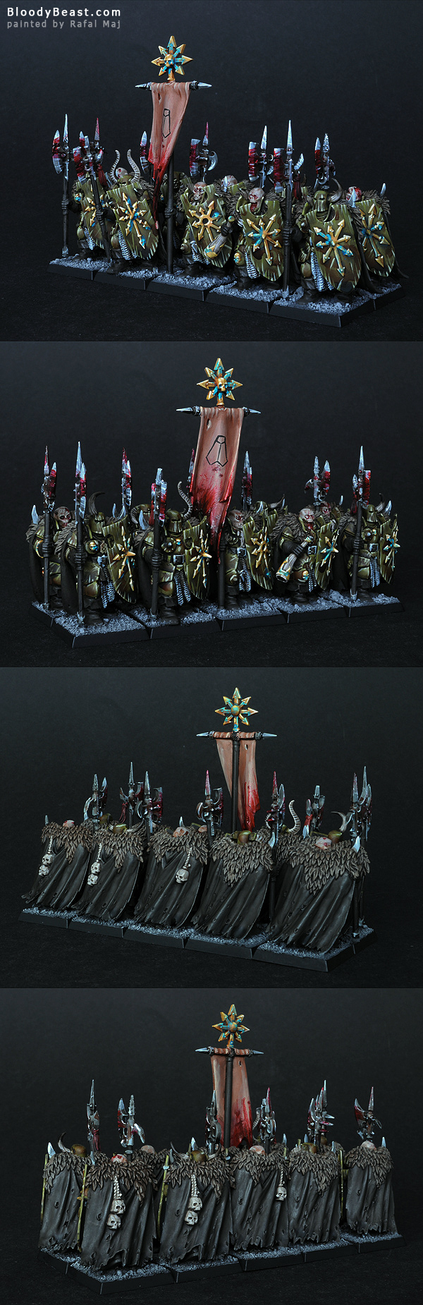 Chaos Warriors Of Nurgle painted by Rafal Maj (BloodyBeast.com)