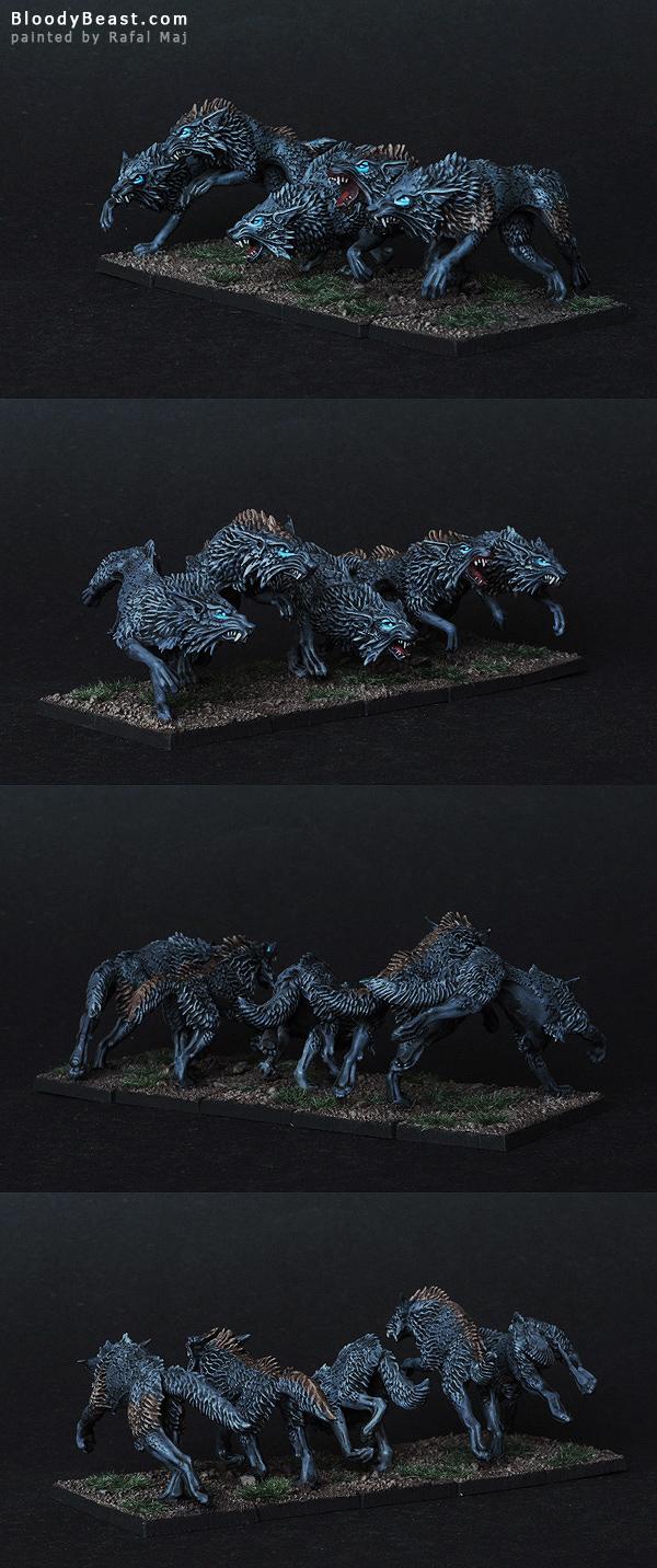 Dire Wolves painted by Rafal Maj (BloodyBeast.com)