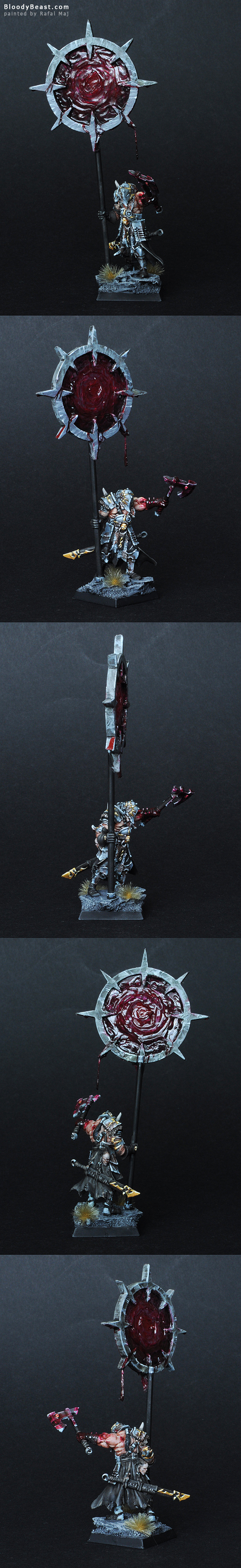 Chaos Battle Standard Bearer painted by Rafal Maj (BloodyBeast.com)