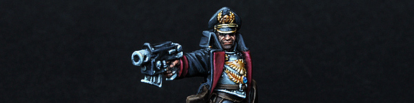 Imperial Guards Commissar with Bolt Pistol