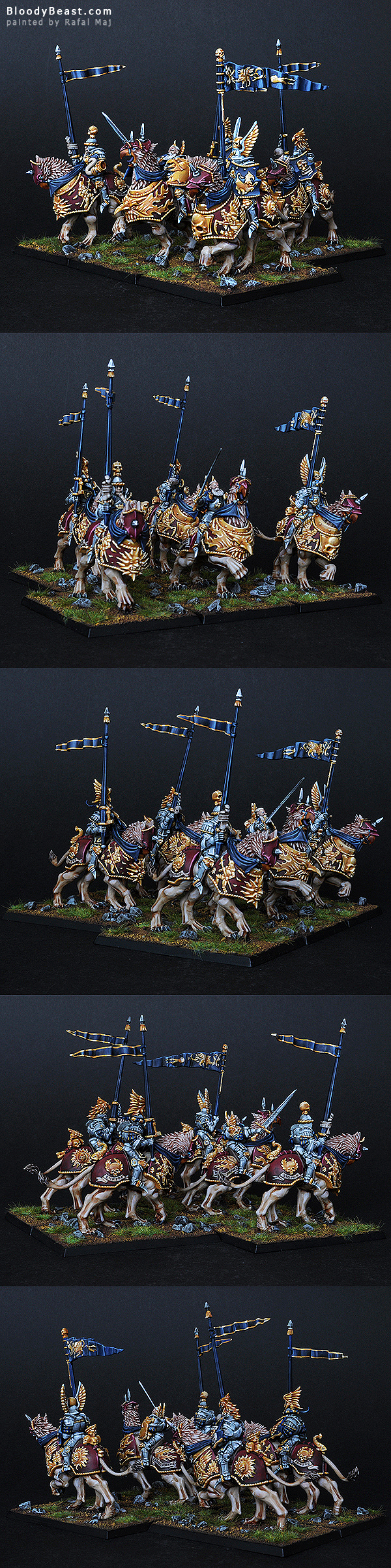 Empire Demigryph Knights painted by Rafal Maj (BloodyBeast.com)