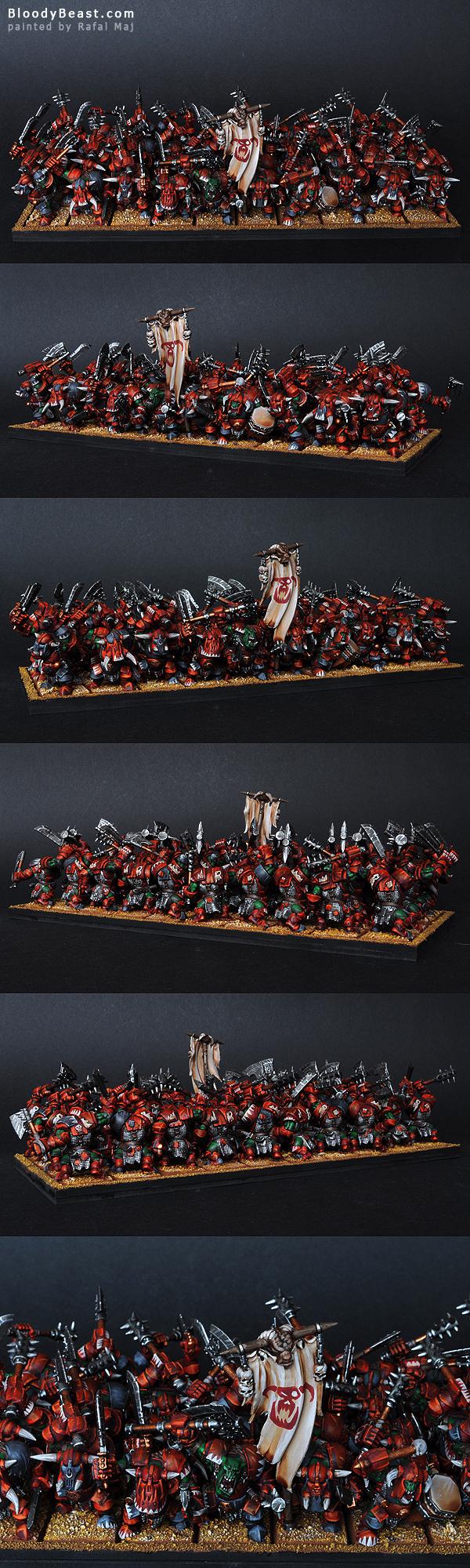 Black Orcs Krimson Killes Horde painted by Rafal Maj (BloodyBeast.com)