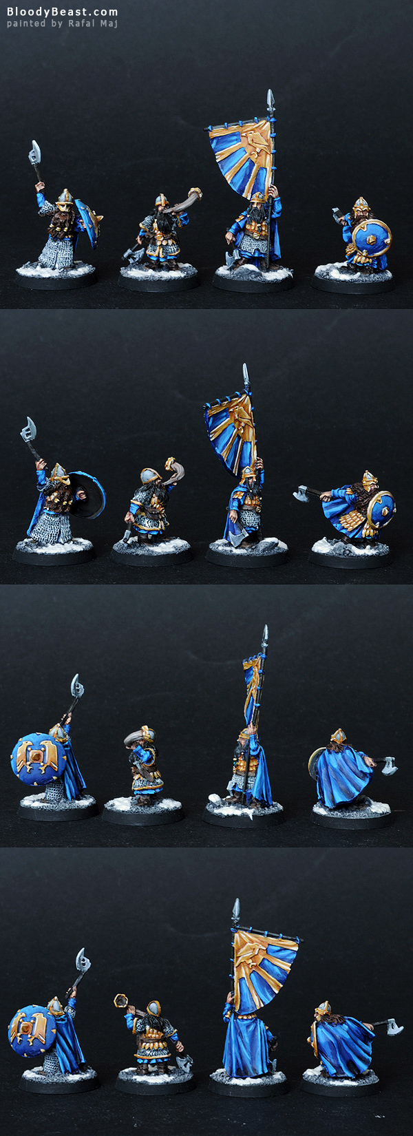 Dwarf Commanders painted by Rafal Maj (BloodyBeast.com)