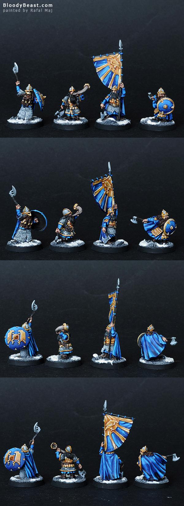 Dwarf Commanders painted by Rafal Maj (BloodyBeast.com)