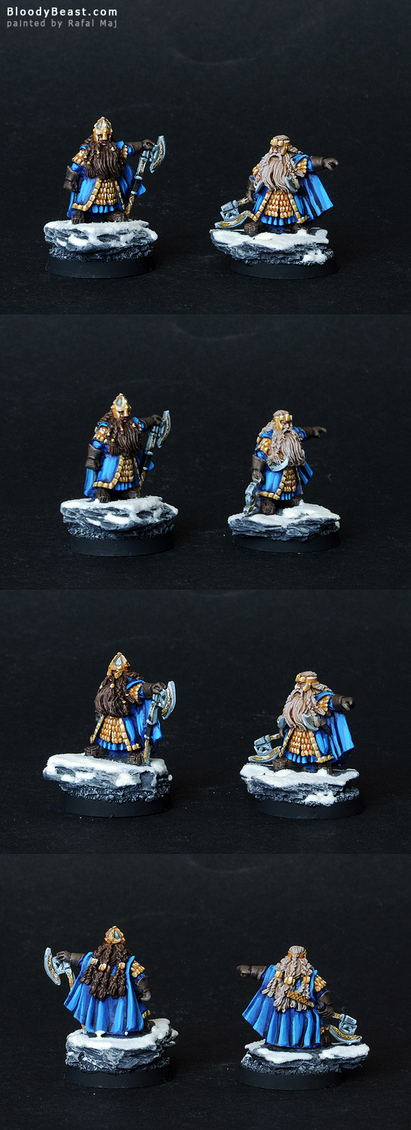 Dwarf Dain and Balin painted by Rafal Maj (BloodyBeast.com)
