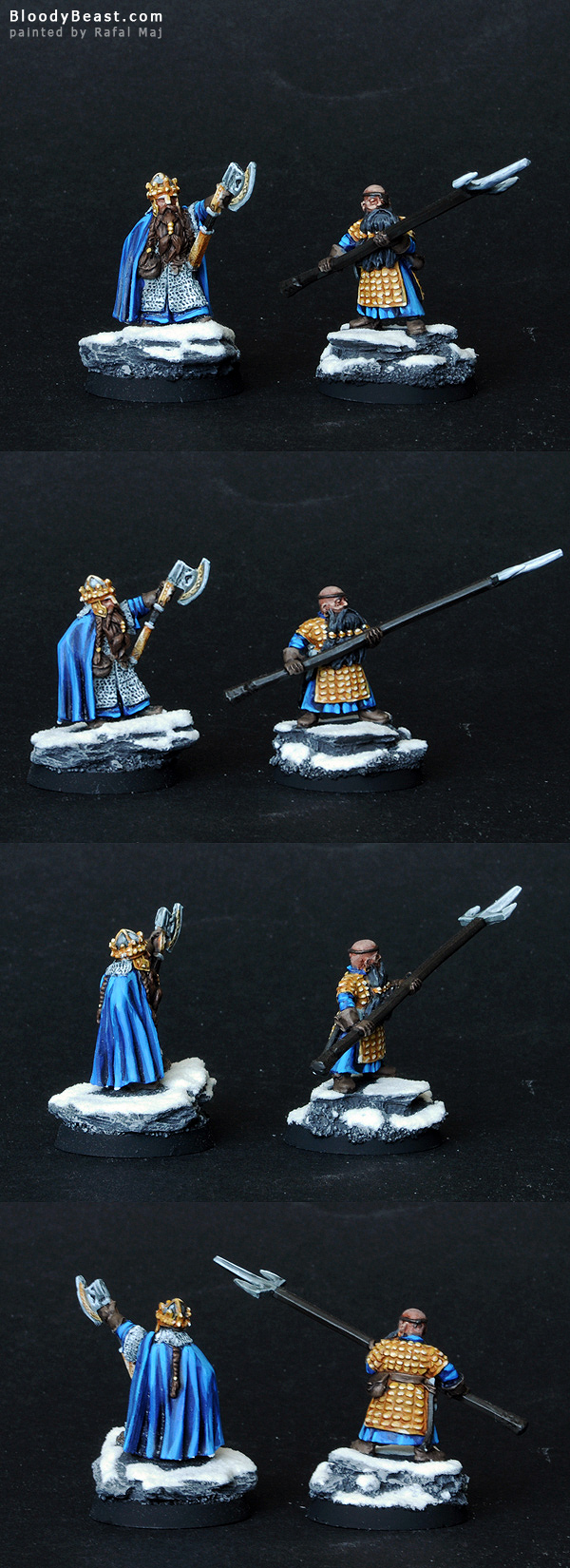 Dwarf Durin and Mardin painted by Rafal Maj (BloodyBeast.com)