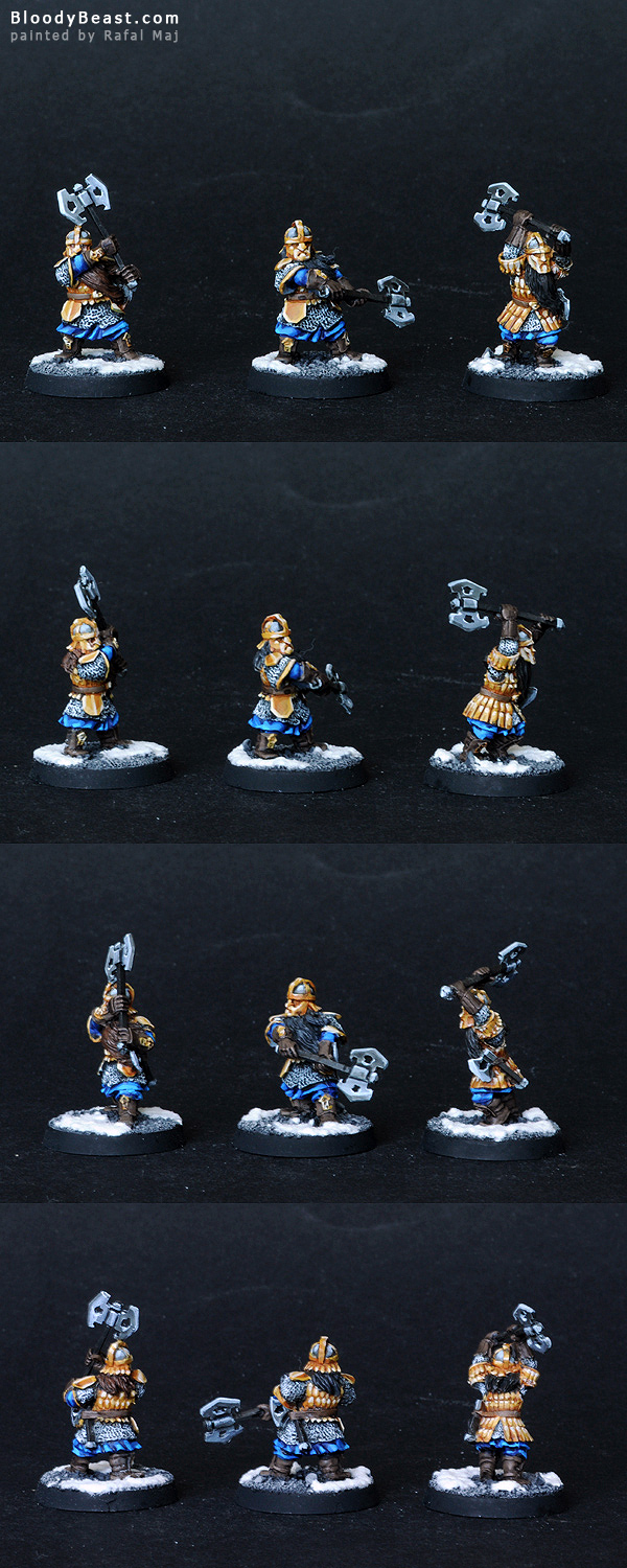 Dwarf Khazad Guards painted by Rafal Maj (BloodyBeast.com)