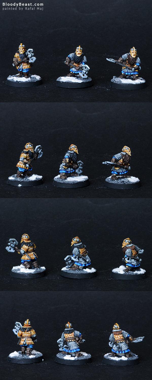 Dwarf Khazad Guards painted by Rafal Maj (BloodyBeast.com)