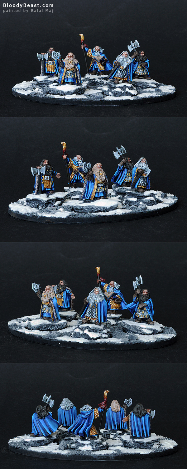 Dwarf Kings with Loremaster painted by Rafal Maj (BloodyBeast.com)