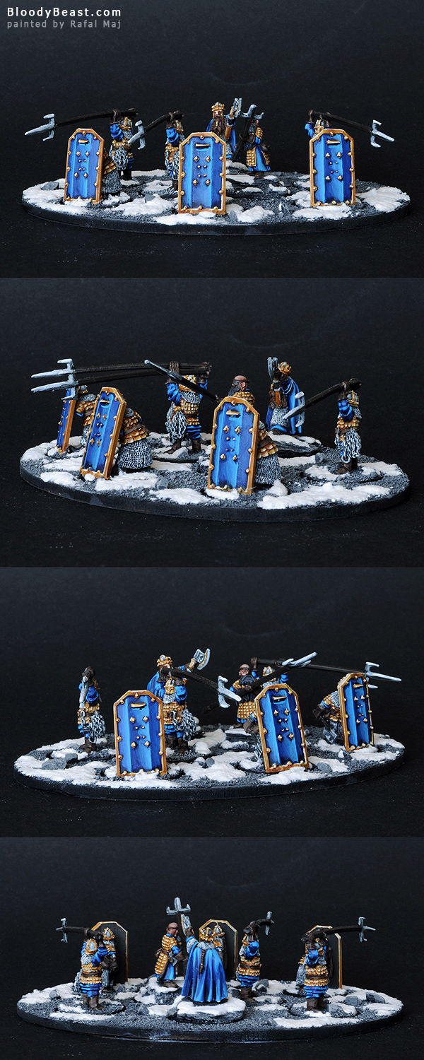 Dwarf Vault Warden Team Unit with Durin and Mardin painted by Rafal Maj (BloodyBeast.com)