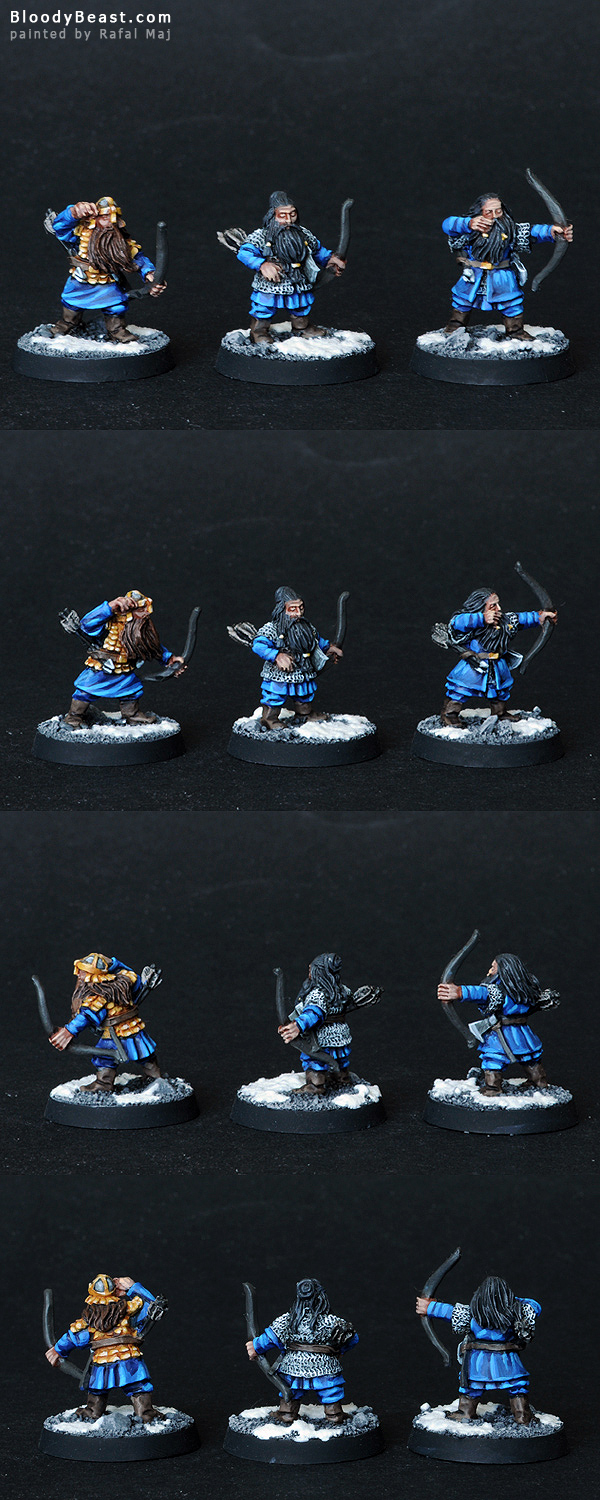 Dwarf Warrior Bowmen painted by Rafal Maj (BloodyBeast.com)