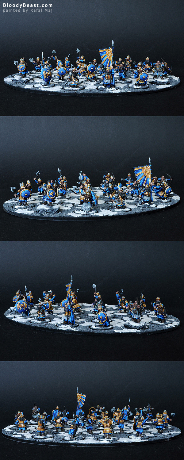 Dwarf Warrior Unit with Murin and Drar and Commanders painted by Rafal Maj (BloodyBeast.com)