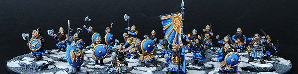 Dwarf Warrior Unit with Murin and Drar and Commanders