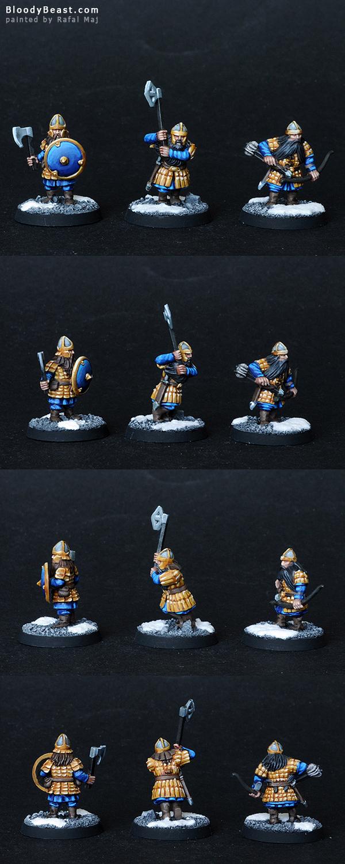 Dwarf Warriors painted by Rafal Maj (BloodyBeast.com)