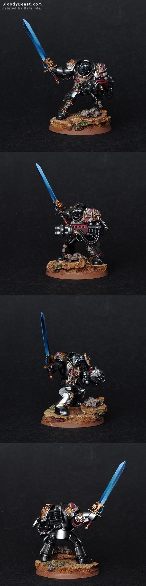 Grey Knight Terminator with Heavy Weapon painted by Rafal Maj (BloodyBeast.com)