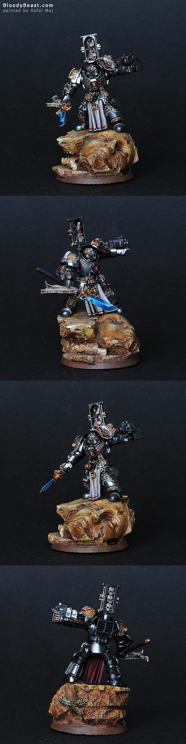 Grey Knight Terminator with Nemesis Force Halberd painted by Rafal Maj (BloodyBeast.com)