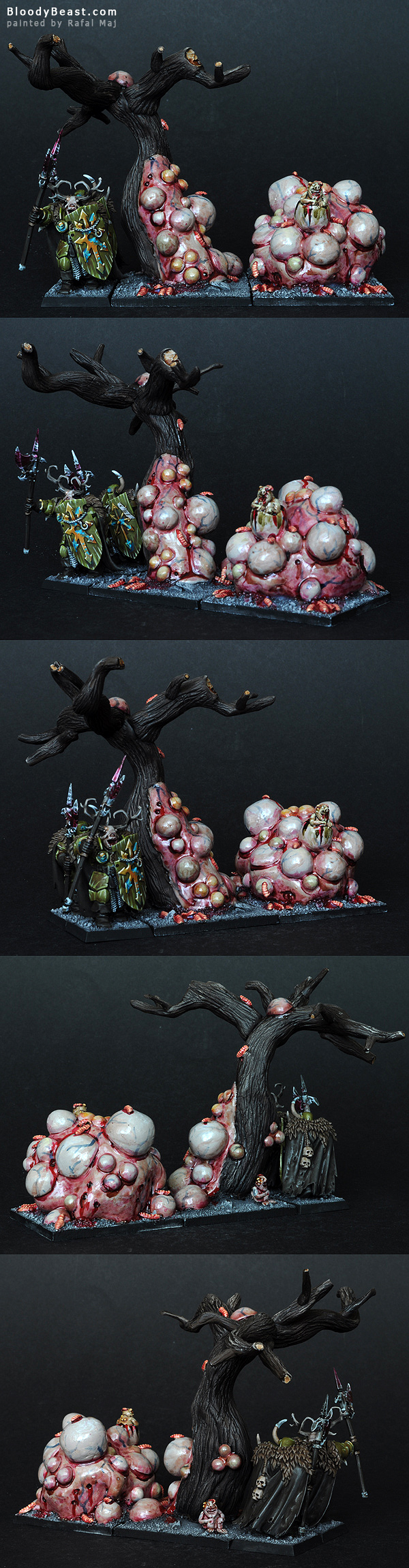 Nurgle Warriors Fillers sculpted and painted by Rafal Maj (BloodyBeast.com)
