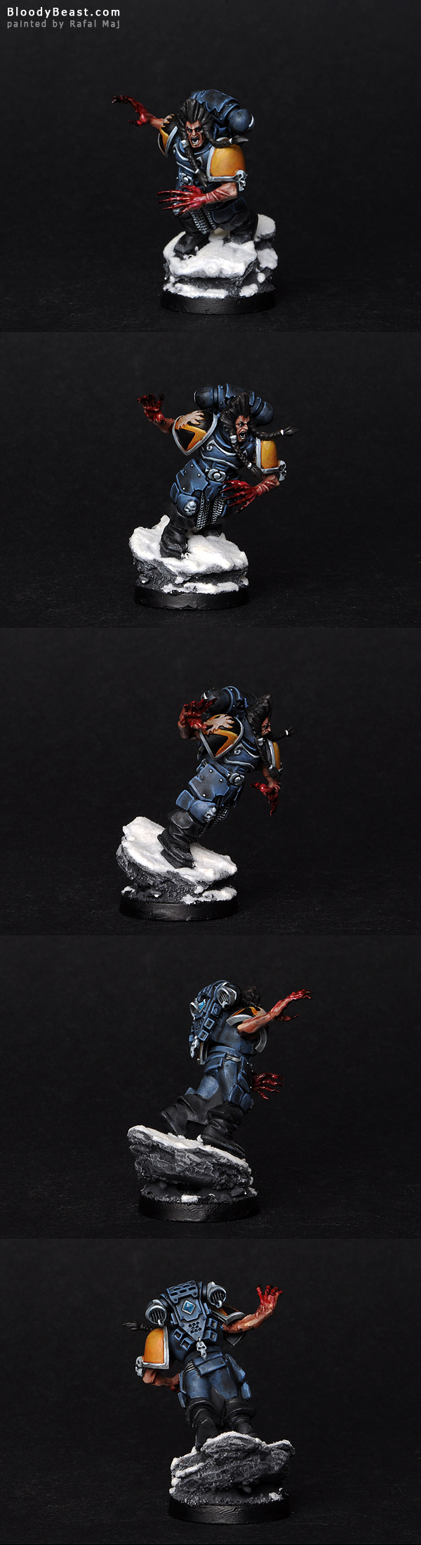 Space Wolf with Mark of Wolfen painted by Rafal Maj (BloodyBeast.com)