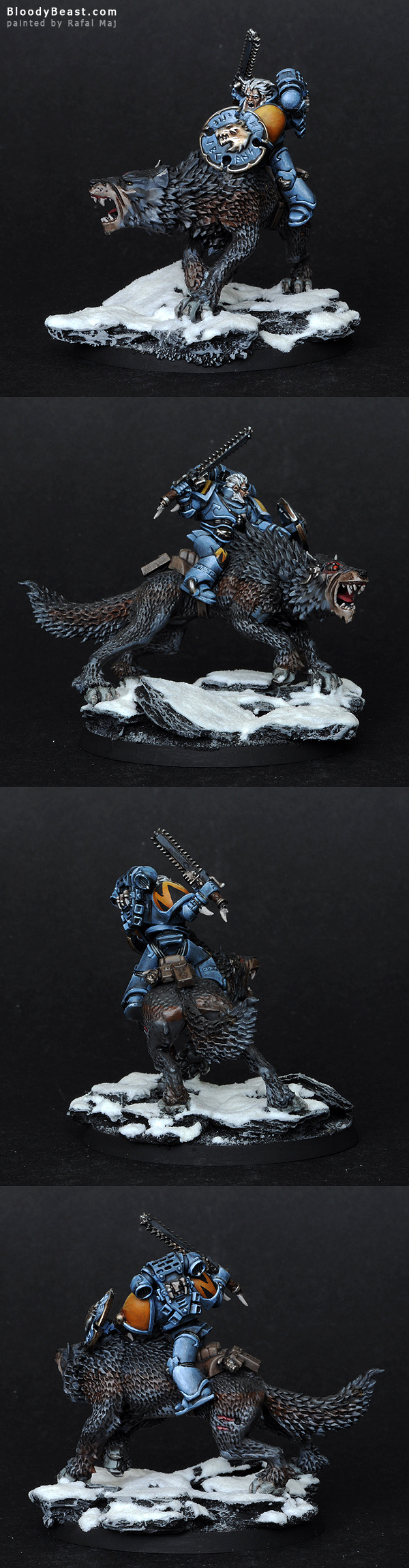 Space Wolves Thunderwolf painted by Rafal Maj (BloodyBeast.com)