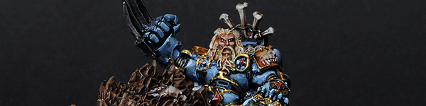 Space Wolves Canis Wolfborn on Thunderwolf