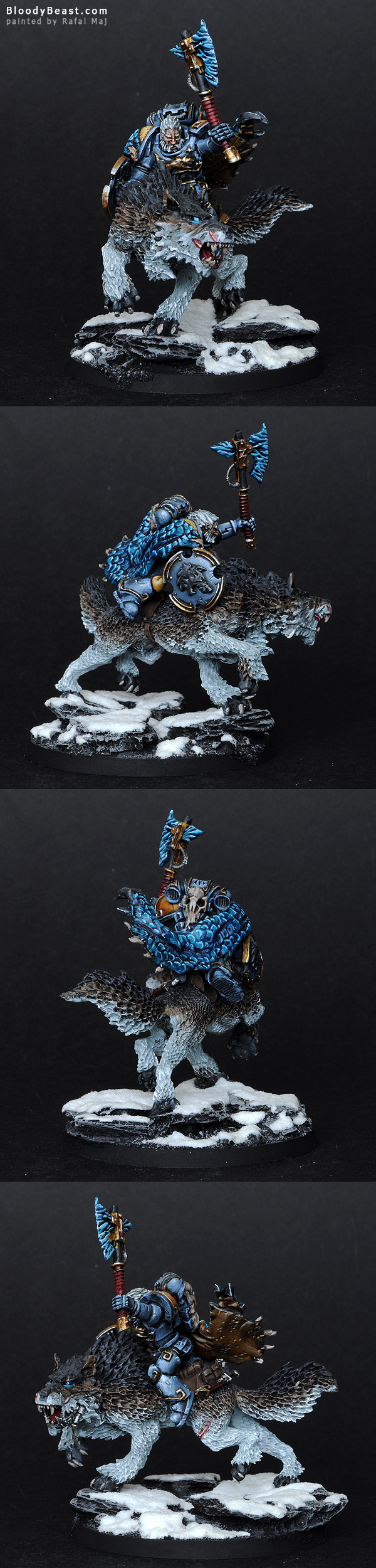Space Wolves Thunderwolf Lord painted by Rafal Maj (BloodyBeast.com)
