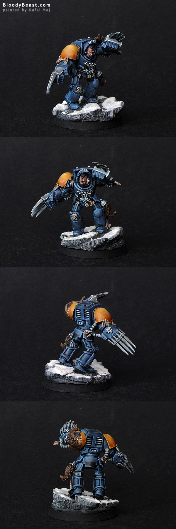 Space Wolves Guard with Wolf Claws painted by Rafal Maj (BloodyBeast.com)