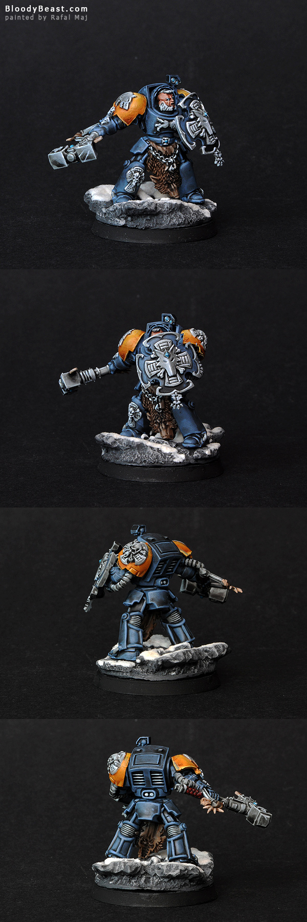 Space Wolves Guard with Hammer and Shield painted by Rafal Maj (BloodyBeast.com)