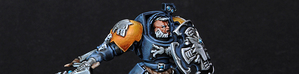 Space Wolves Guard with Hammer and Shield