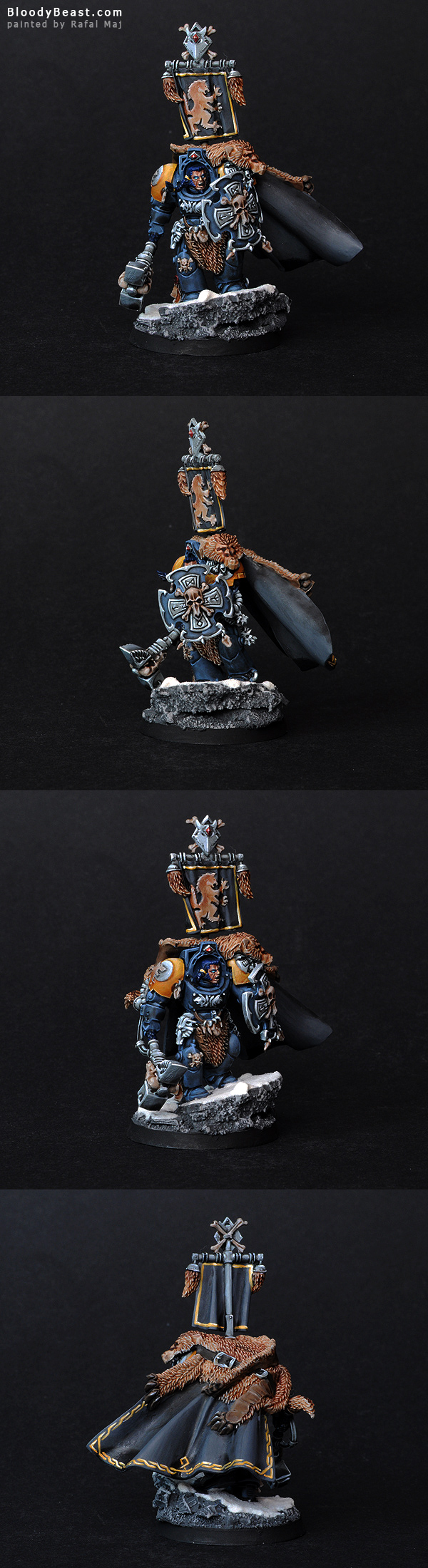 Space Wolves Lord with Hammer and Shield painted by Rafal Maj (BloodyBeast.com)