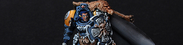 Space Wolves Lord with Hammer and Shield