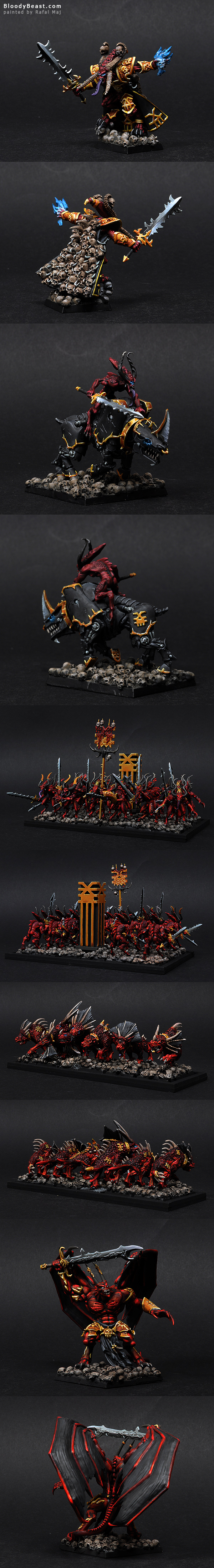 Khorne Daemon Army painted by Rafal Maj (BloodyBeast.com)