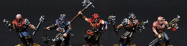 Chaos Space Marines Cultists with Flamer