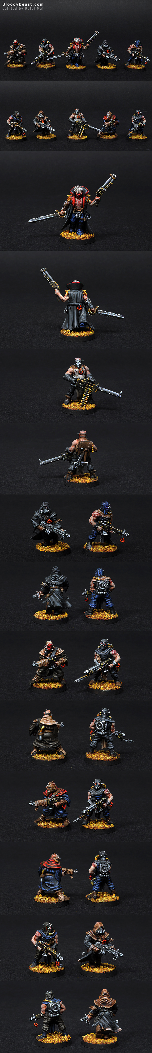 Chaos Space Marines Cultists with Heavy Stubber painted by Rafal Maj (BloodyBeast.com)